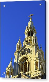 Acrylic Print featuring the photograph Saints Peter And Paul Church San Francisco by Alex King