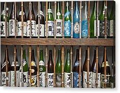 Sake Bottles Acrylic Print