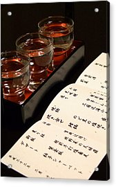 Sake Delight Acrylic Print by Larry Knipfing