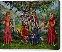 Sakhi Yugal Acrylic Print