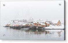 White Out Sakrisoy  Acrylic Print by Janet Burdon