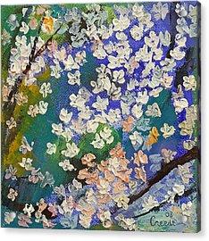 Sakura Oil Painting Acrylic Print by Michael Creese