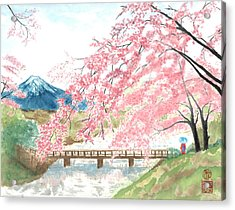 Sakura Acrylic Print by Terri Harris