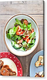 Salad Acrylic Print by Tom Gowanlock