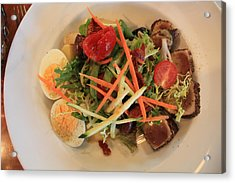 Acrylic Print featuring the photograph Salade Nicoise by Gerry Bates