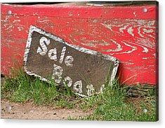 Sale Boat Acrylic Print