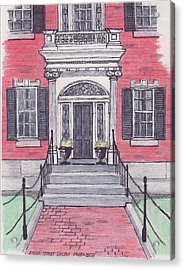 Salem Essex Street Front Door Acrylic Print by Paul Meinerth