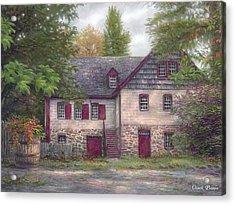 Salem House Acrylic Print by Chuck Pinson