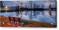 Salem Ohio Industrial Park Sunset Acrylic Print