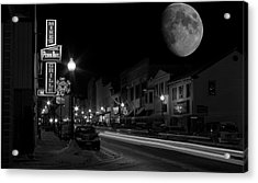 Salem Ohio Winter Moon Acrylic Print