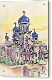 Salem Orthodox Church Acrylic Print by Paul Meinerth