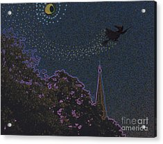 Salem Witch Moon 2 By Jrr Acrylic Print by First Star Art