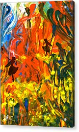 Acrylic Print featuring the painting Salient Celebration by Ron Richard Baviello