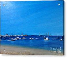 Salinas Las Palmeras Beach Acrylic Print by Katiuska Drouet