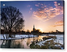 Salisbury Cathedral 2 Acrylic Print by Rod McLean
