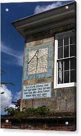 Acrylic Print featuring the photograph Salisbury Sundial by Ross Henton