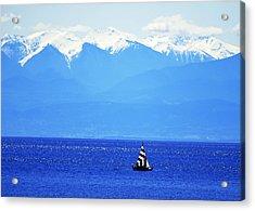 Salish Sea Sail Acrylic Print by Annie Pflueger