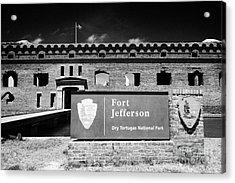 Sally Port Entrance To Fort Jefferson Dry Tortugas National Park Florida Keys Usa Acrylic Print by Joe Fox