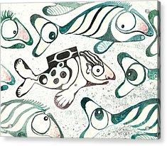 Salmon Boy The Swimmer Acrylic Print