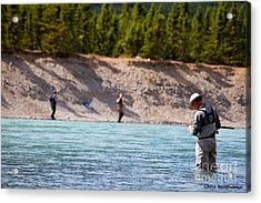 Salmon Fishing Acrylic Print by Chris Heitstuman