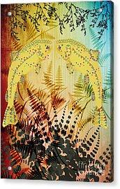 Salmon Love Gold Acrylic Print