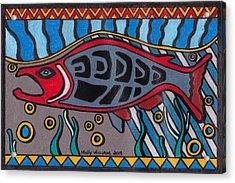 Salmon Acrylic Print by Molly Williams