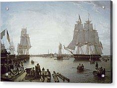 Salmon, Robert 1775-1845. Boston Acrylic Print by Everett