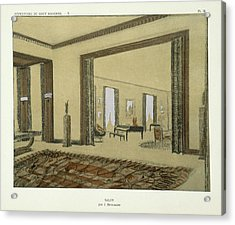 Salon, From Repertoire Of Modern Taste Acrylic Print by Jacques-Emile Ruhlmann