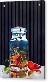 Salsa Acrylic Print by Arlene Steinberg