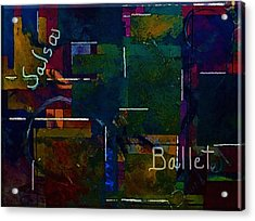 Acrylic Print featuring the painting Salsa Ballet by Lisa Kaiser