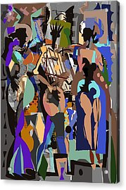 Acrylic Print featuring the digital art Salsa Caliente by Clyde Semler