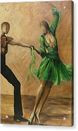 Acrylic Print featuring the painting Salsa by Sheri  Chakamian