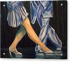 Salsa Stepping Acrylic Print by Julie Brugh Riffey