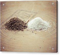 Salt And Pepper Acrylic Print by Takeshi Okada