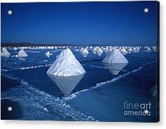 Salt Cones At Nightfall Acrylic Print