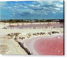 Salt Evaporation Ponds Acrylic Print