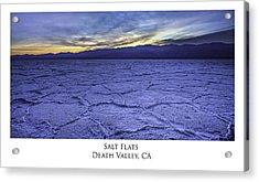 Salt Flats Acrylic Print
