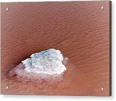 Salt In Evaporation Pond Acrylic Print