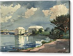Acrylic Print featuring the painting Salt Kettle Bermuda by Winslow Homer