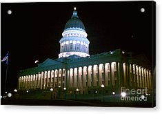Acrylic Print featuring the photograph Salt Lake Capitol Building by Chris Tarpening