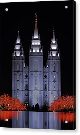 Salt Lake Christmas Acrylic Print by Chad Dutson