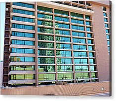 Acrylic Print featuring the photograph Salt Lake City Architecture Reflection by Ely Arsha