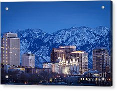 Salt Lake City Acrylic Print by Brian Jannsen