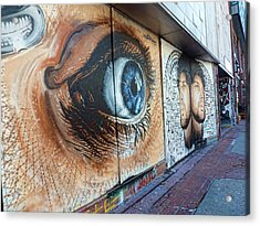 Acrylic Print featuring the photograph Salt Lake City - Mural 1 by Ely Arsha