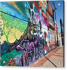 Acrylic Print featuring the photograph Salt Lake City - Mural 3 by Ely Arsha