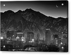 Salt Lake City Utah Skyline Acrylic Print