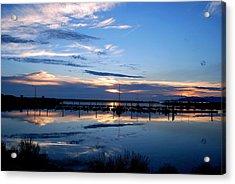 Salt Lake Marina Sunset Acrylic Print by Matt Harang