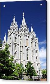 Salt Lake Mormon Temple Acrylic Print by Charline Xia