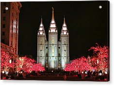 Acrylic Print featuring the photograph Salt Lake Temple - 1 by Ely Arsha