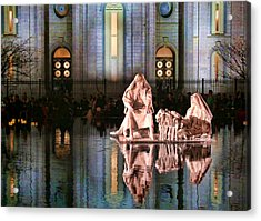 Acrylic Print featuring the photograph Salt Lake Temple - 2 by Ely Arsha
